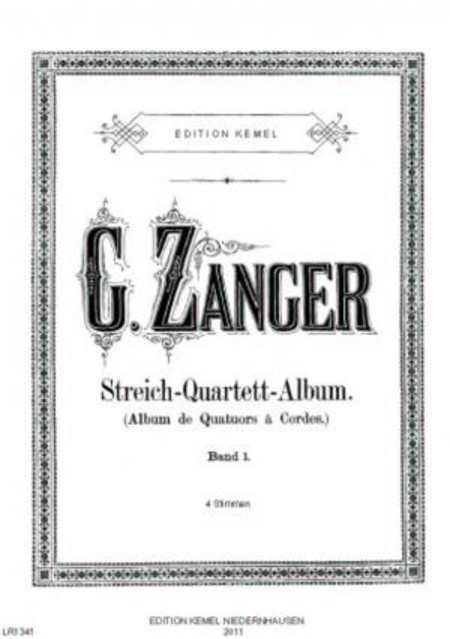 Streich-Quartett-Album : beliebte Stucke fur 2 Violinen, Viola und Violoncell, op. 19 : Band 1