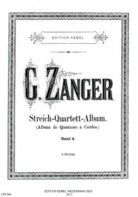 Streich-Quartett-Album : beliebte Stucke fur 2 Violinen, Viola und Violoncell, op. 19 : Band 4