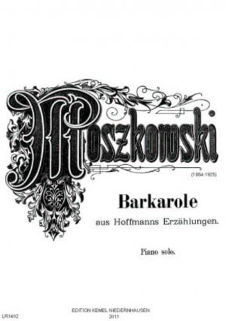 Barcarolle de l'opera Les contes d'Hoffmann de Jacques Offenbach : Paraphrase pour piano