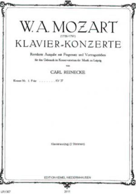 Konzert Nr. 1 F dur : fur Klavier und Orchester, KV 37 (Klavierauszug)