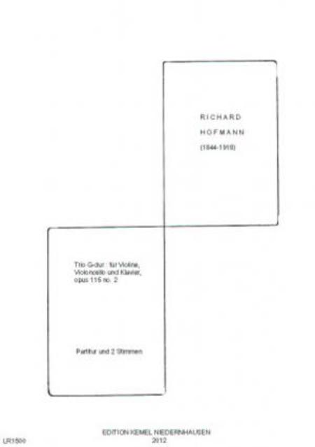 Trio G-dur : fur Violine, Violoncello und Klavier, opus 115 no. 2