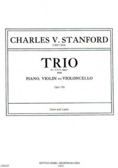 Trio no. 3 in A major : for piano, violin and violoncello, op. 158, 1918