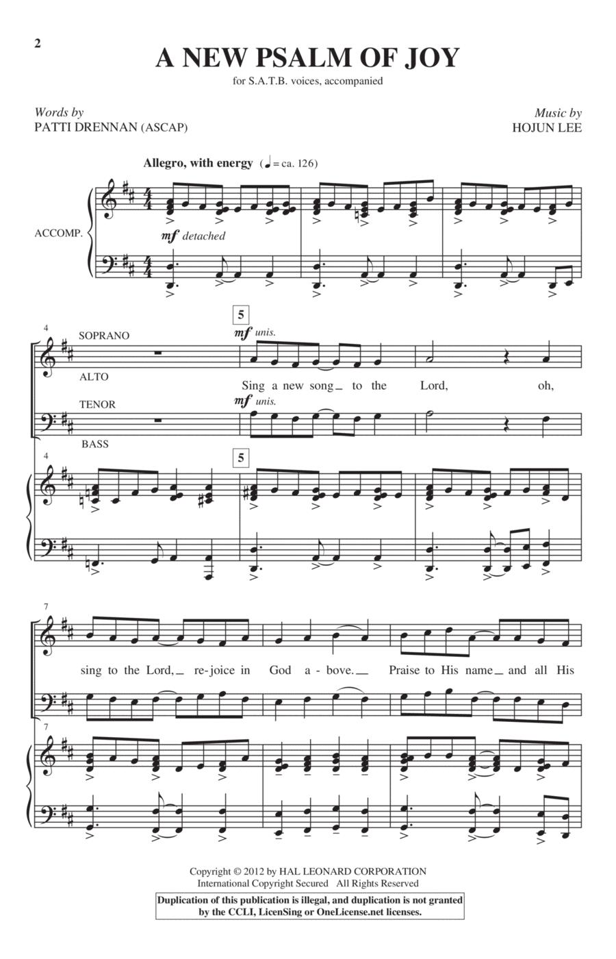 A New Psalm Of Joy