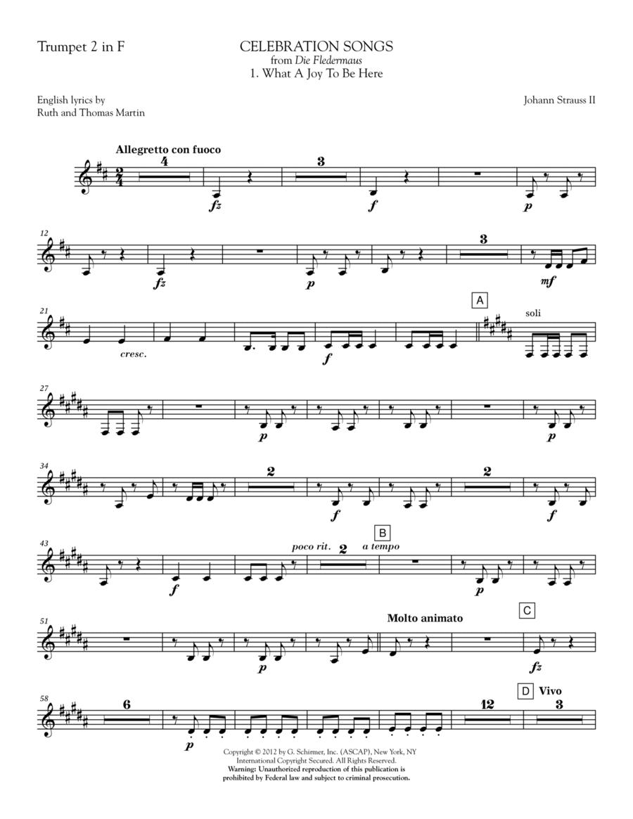 Celebration Songs (from Die Fledermaus) - Trumpet 2 in F