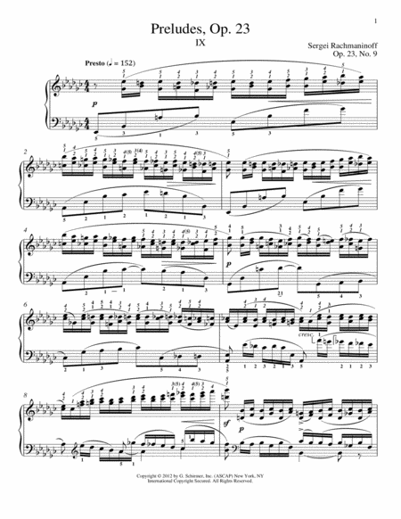 Prelude In E-Flat Minor, Op. 23, No. 9