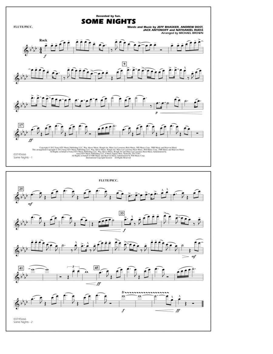 Some Nights - Flute/Piccolo