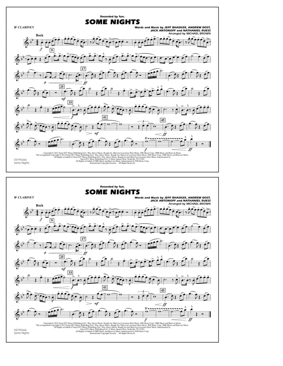 Some Nights - Bb Clarinet