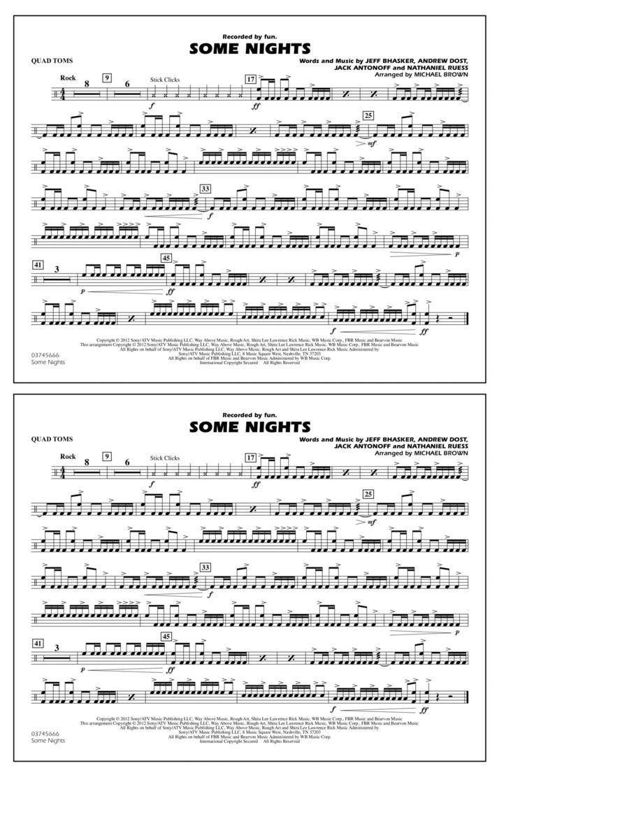 Some Nights - Quad Toms