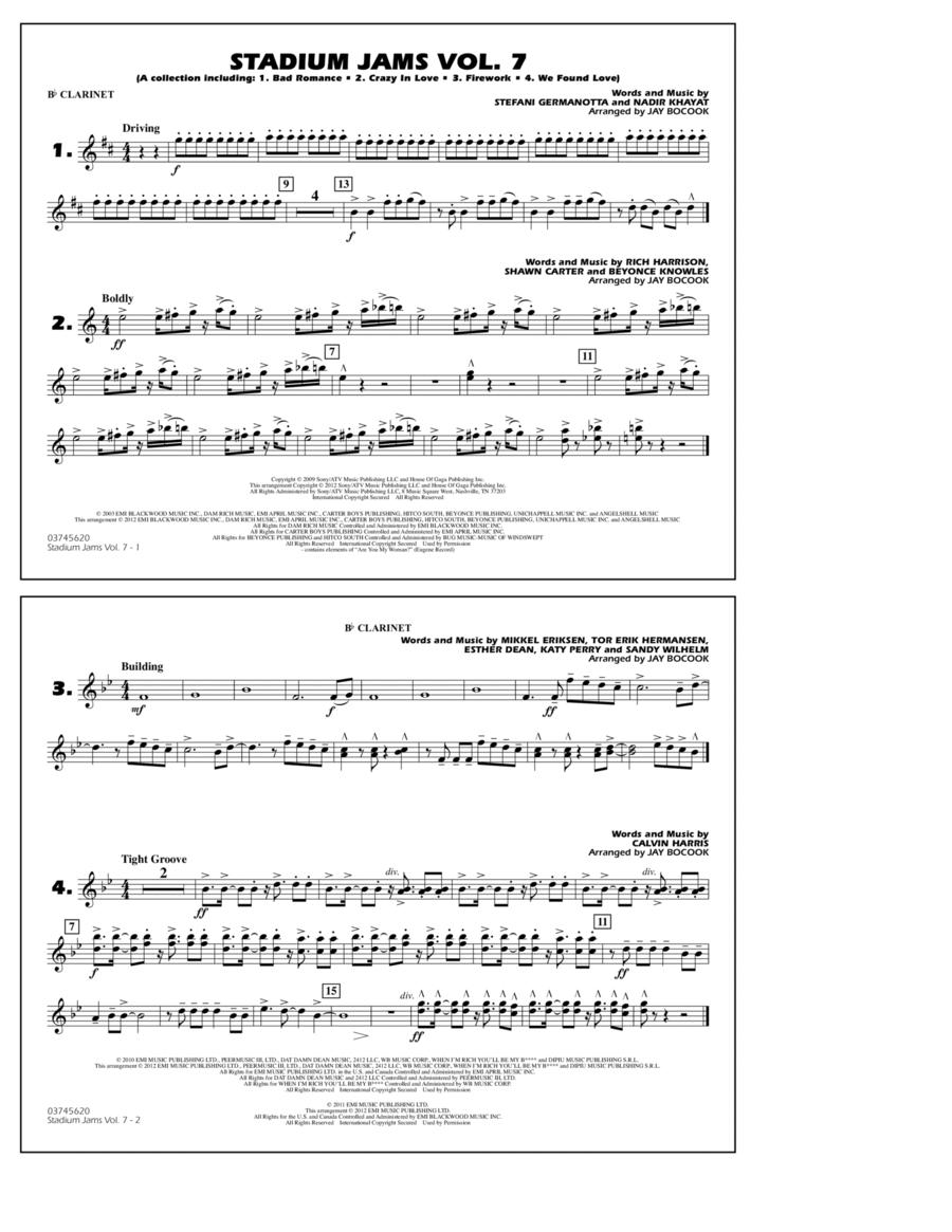 Stadium Jams Vol. 7 (Ladies Of Pop) - Bb Clarinet