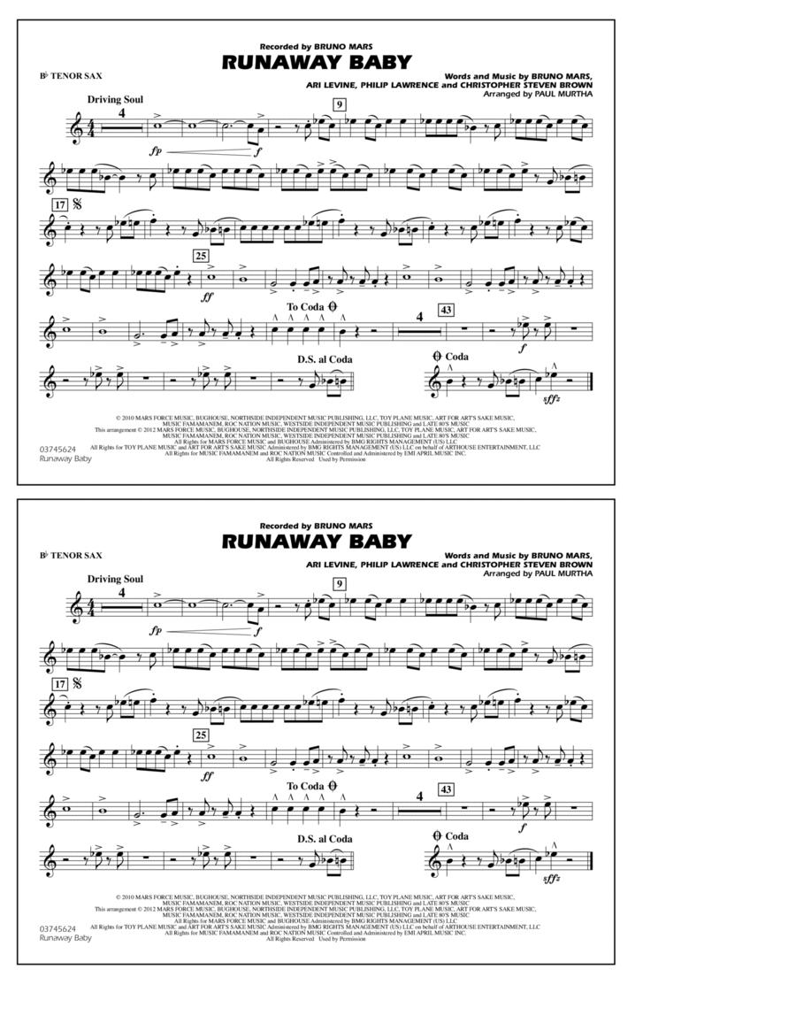 Runaway Baby - Bb Tenor Sax