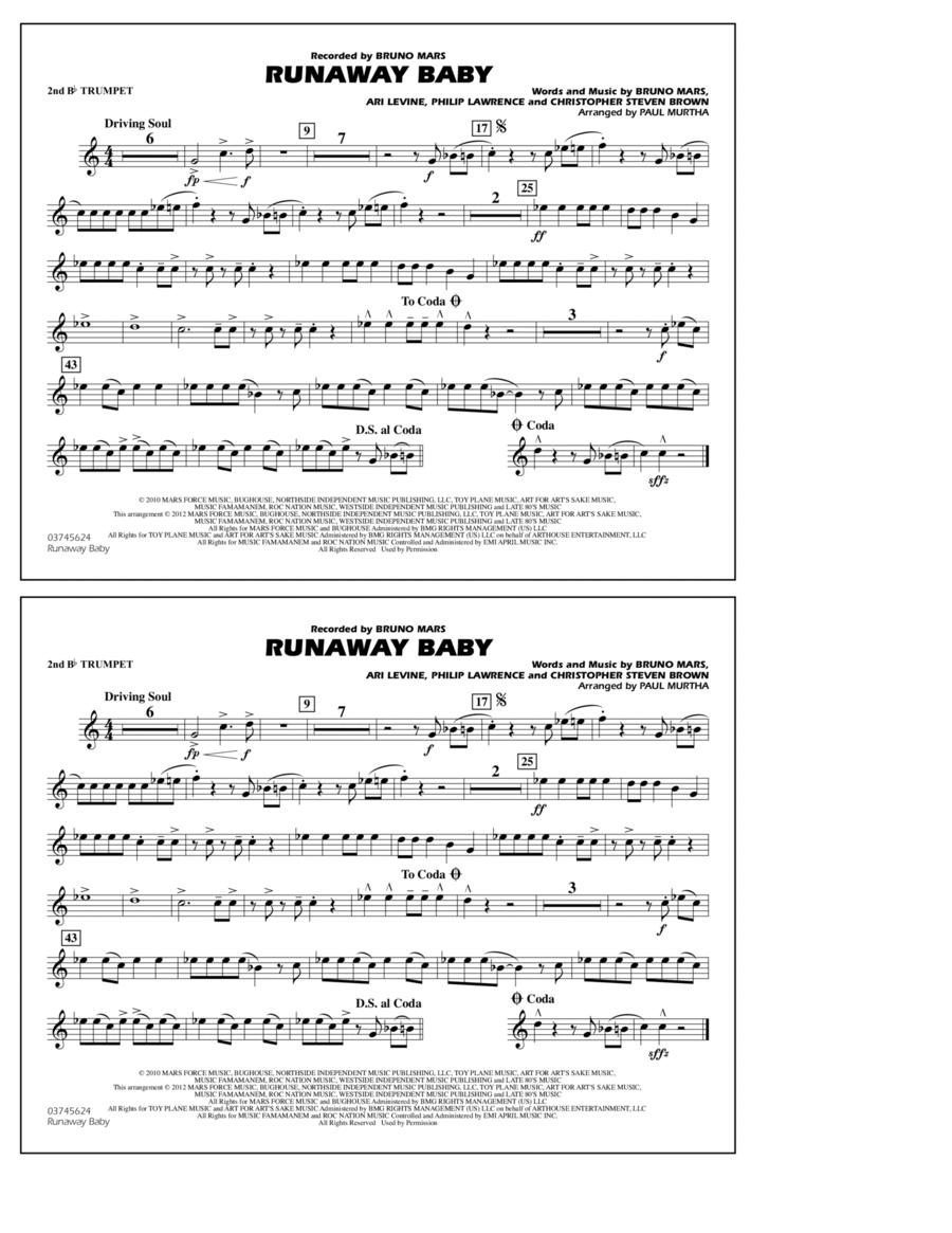 Runaway Baby - 2nd Bb Trumpet