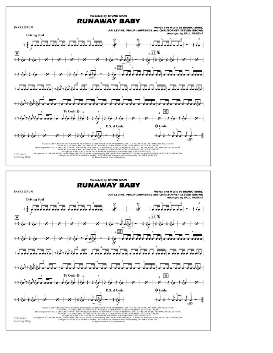 Runaway Baby - Snare Drum