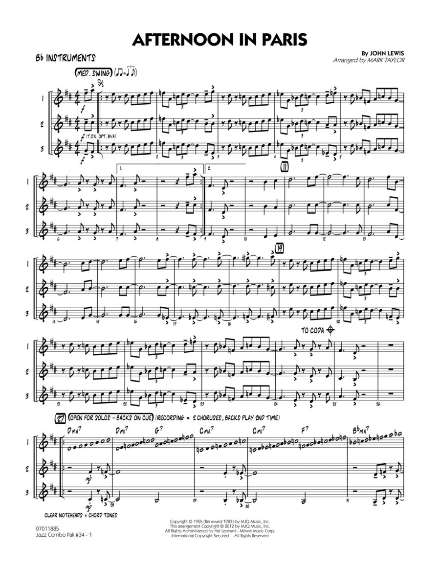 Jazz Combo Pak #34 (Modern Jazz Quartet) - Bb Instruments
