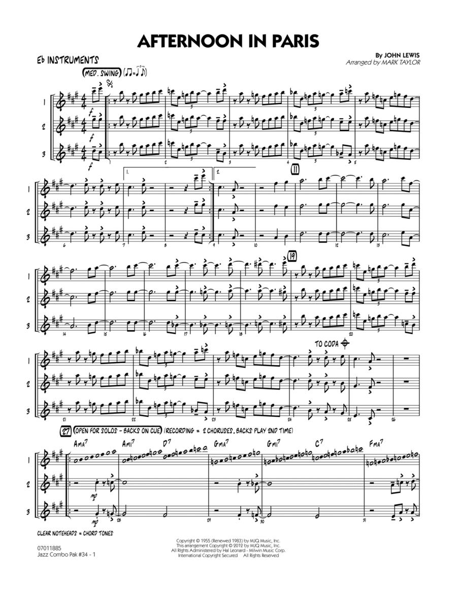 Jazz Combo Pak #34 (Modern Jazz Quartet) - Eb Instruments
