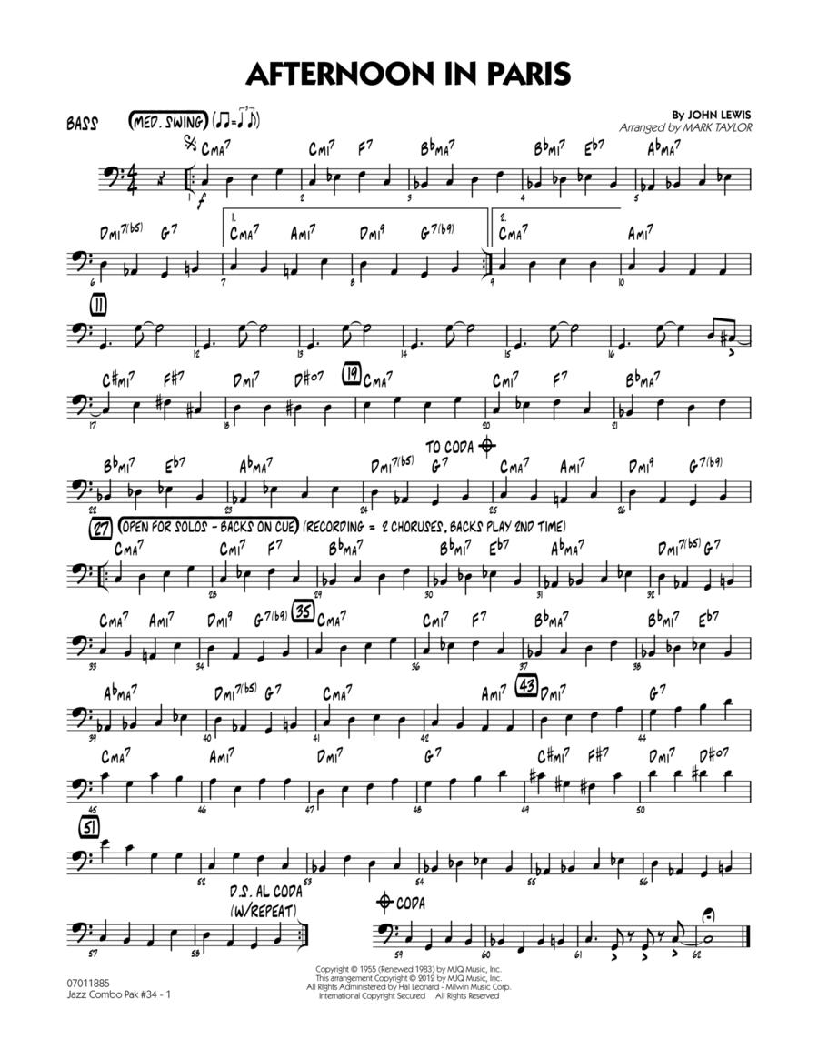 Jazz Combo Pak #34 (Modern Jazz Quartet) - Bass