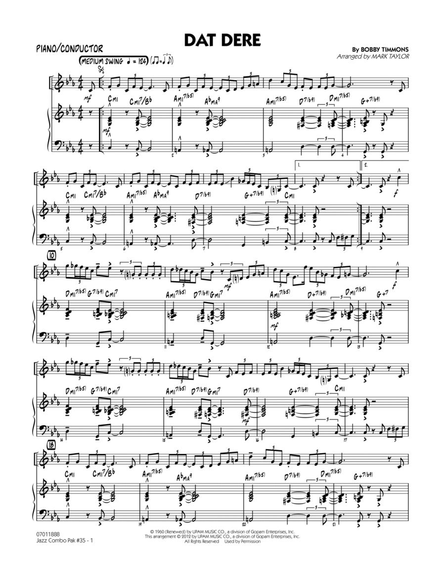 Jazz Combo Pak #35 (Cannonball Adderley) - Piano/Conductor Score