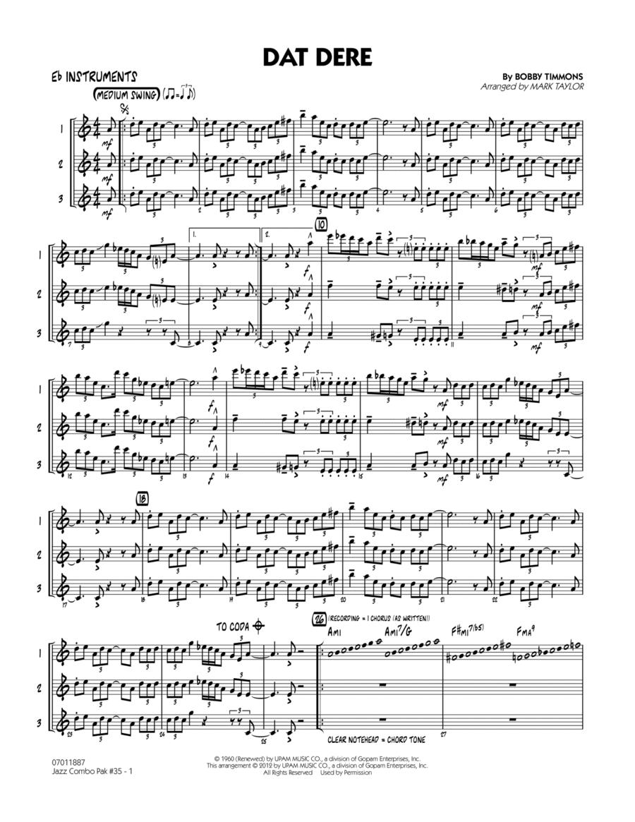 Jazz Combo Pak #35 (Cannonball Adderley) - Eb Instruments