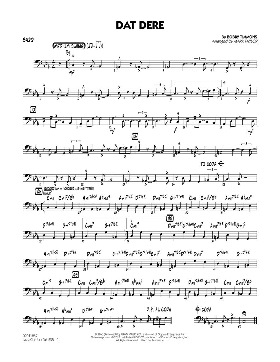 Jazz Combo Pak #35 (Cannonball Adderley) - Bass