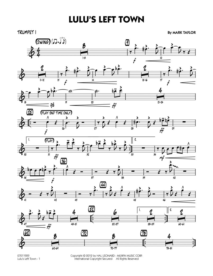 Lulu's Left Town - Trumpet 1