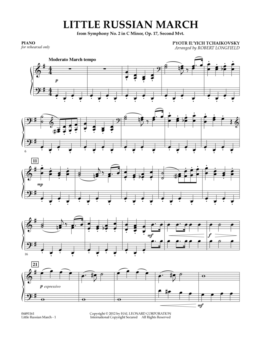 Little Russian March (from Symphony No. 2) - Piano