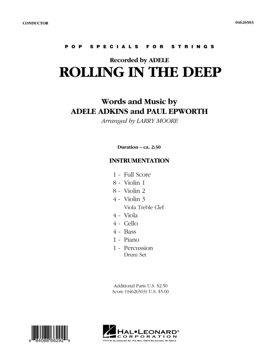 Rolling in the Deep - Full Score