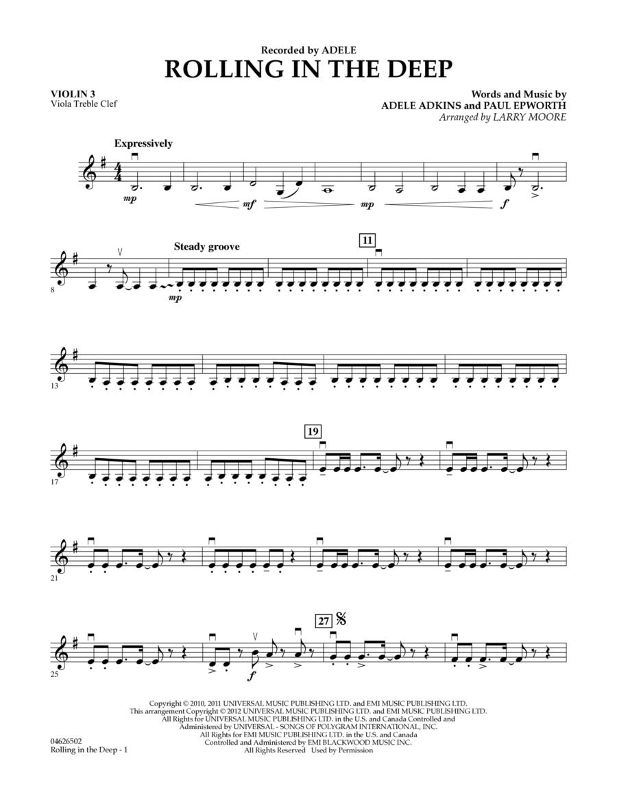 Rolling in the Deep - Violin 3 (Viola Treble Clef)