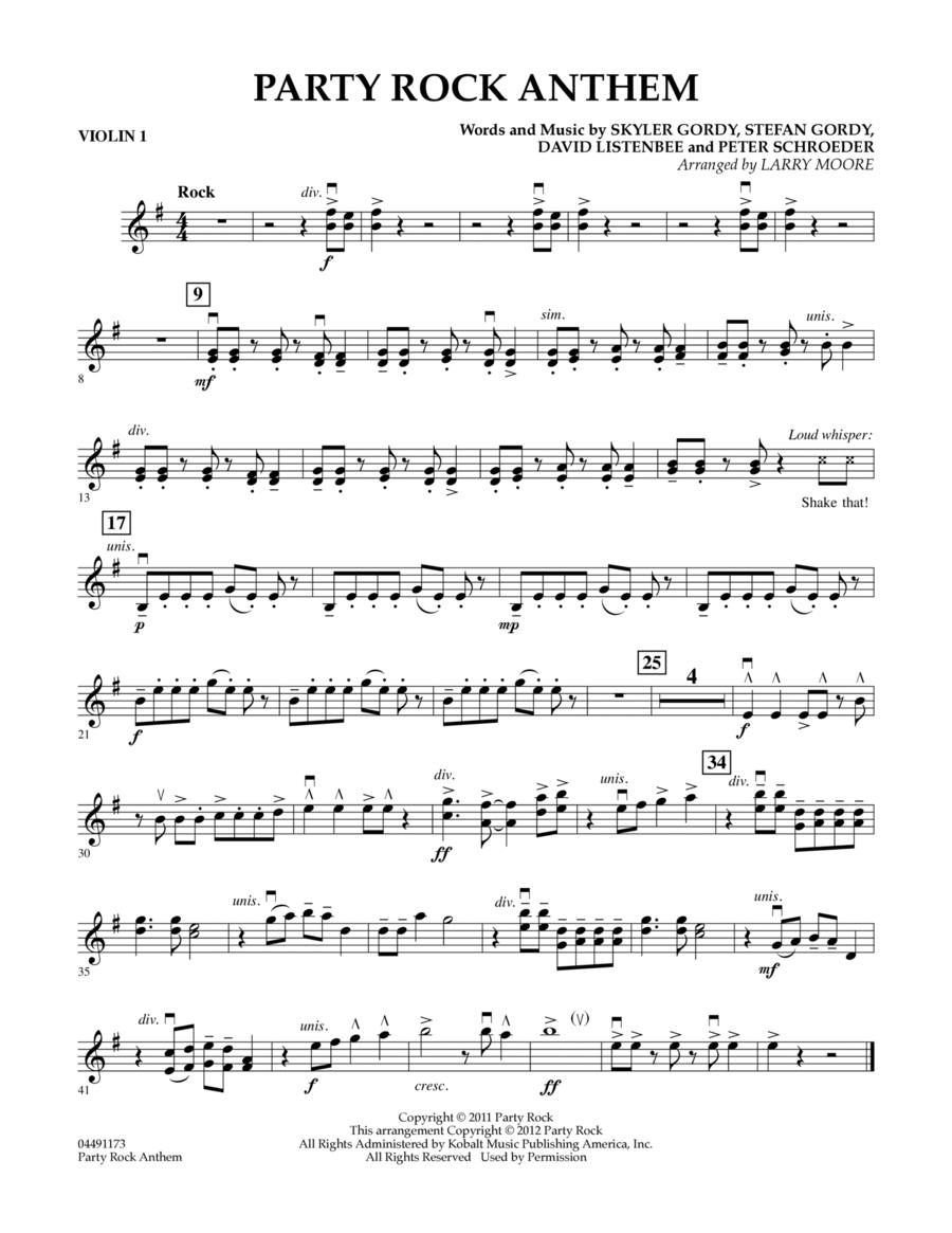Party Rock Anthem - Violin 1