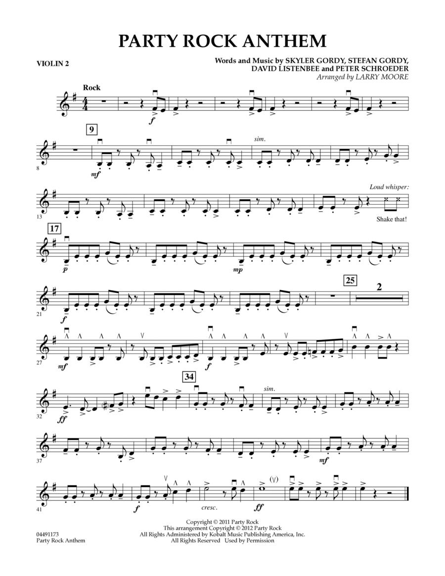 Party Rock Anthem - Violin 2