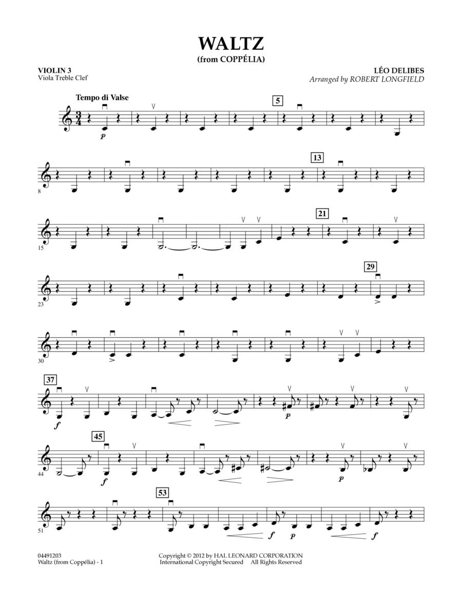 Waltz (from Coppelia) - Violin 3 (Viola Treble Clef)
