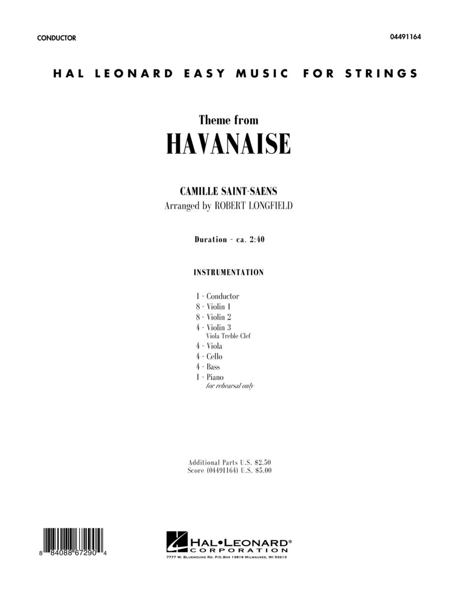 Theme From Havanaise - Full Score