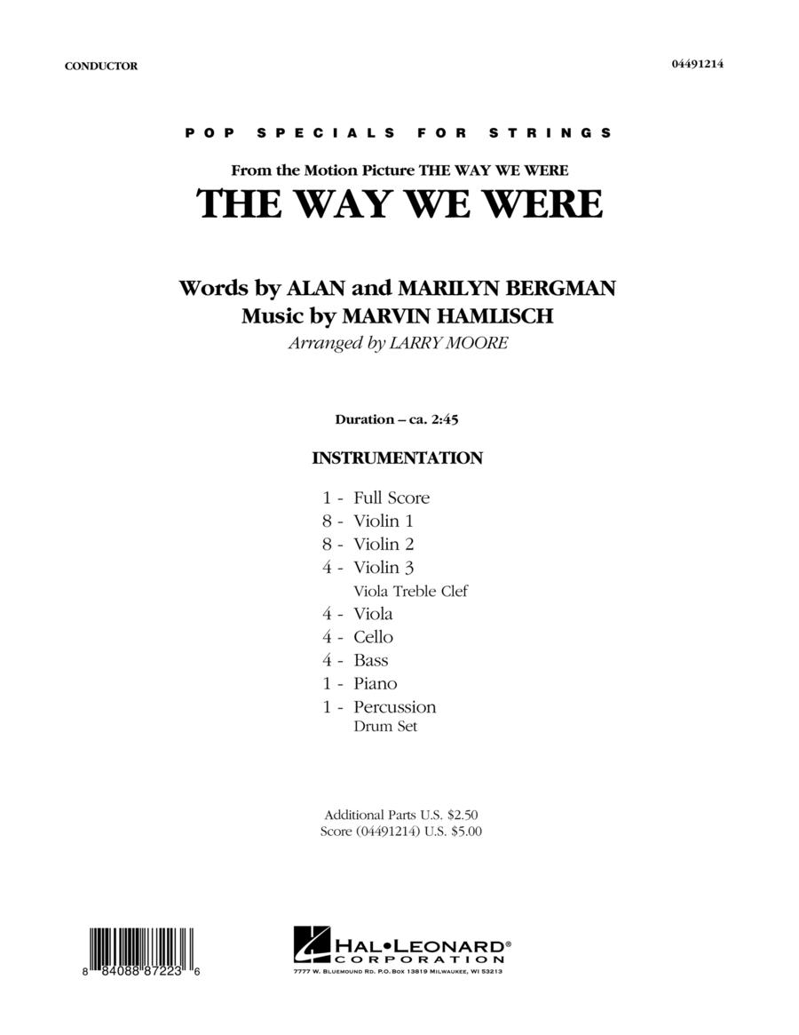 The Way We Were - Full Score