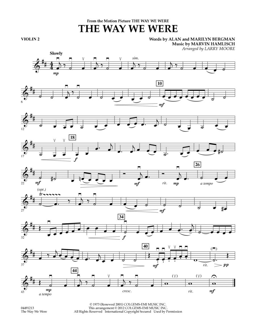 The Way We Were - Violin 2