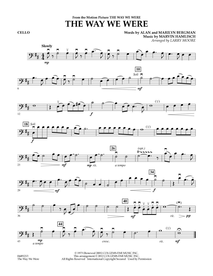The Way We Were - Cello
