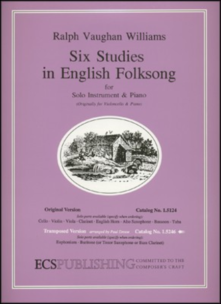 Six Studies in English Folksong (Score & Part)