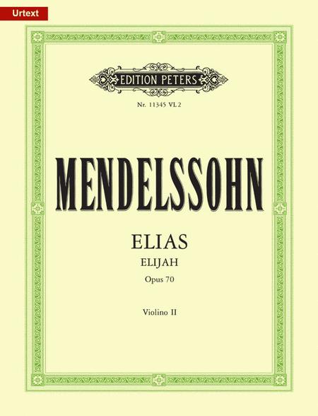 Elias (Elijah) Op. 70