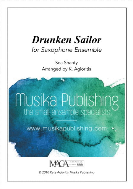 Drunken Sailor - for Saxophone Ensemble