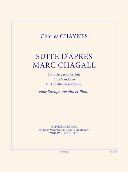 Suite D'Apres Marc Chagall - Saxophone Mib et Piano