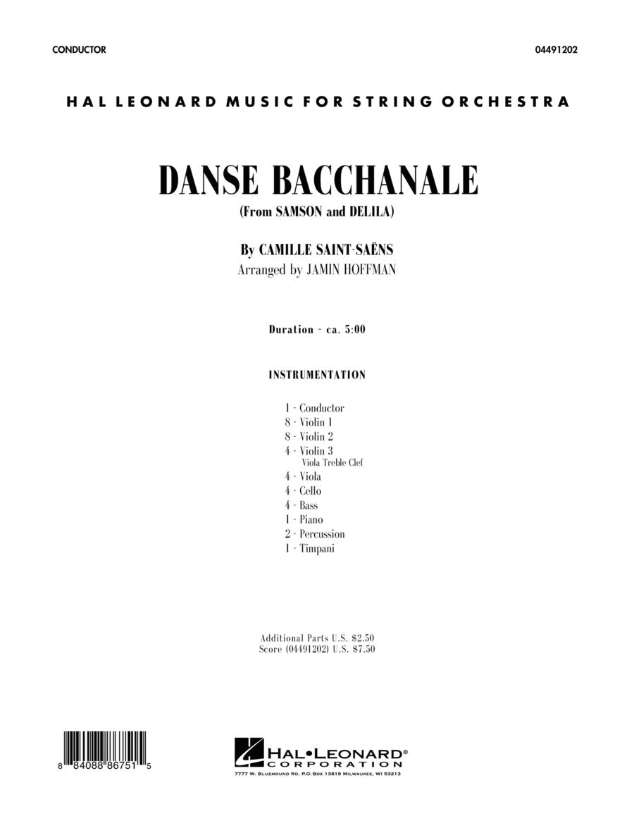 Danse Bacchanale (from Samson And Delila) - Conductor Score (Full Score)