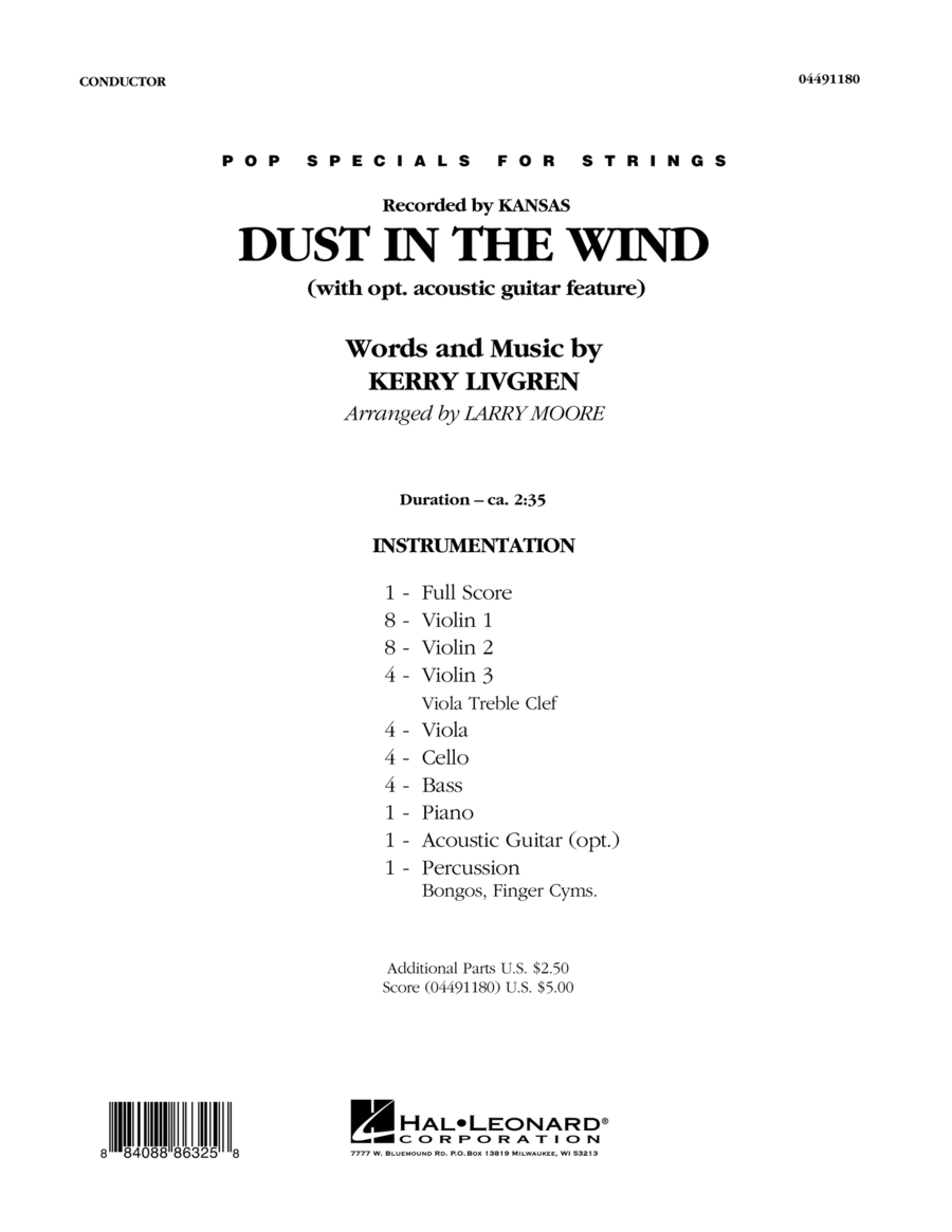 Dust In The Wind - Conductor Score (Full Score)
