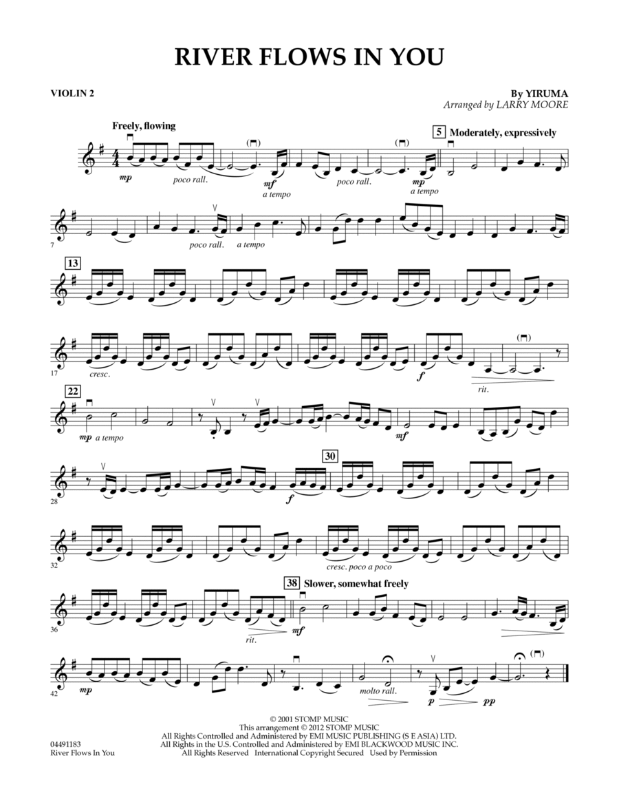 Download River Flows In You - Violin 2 Sheet Music By Yiruma ...