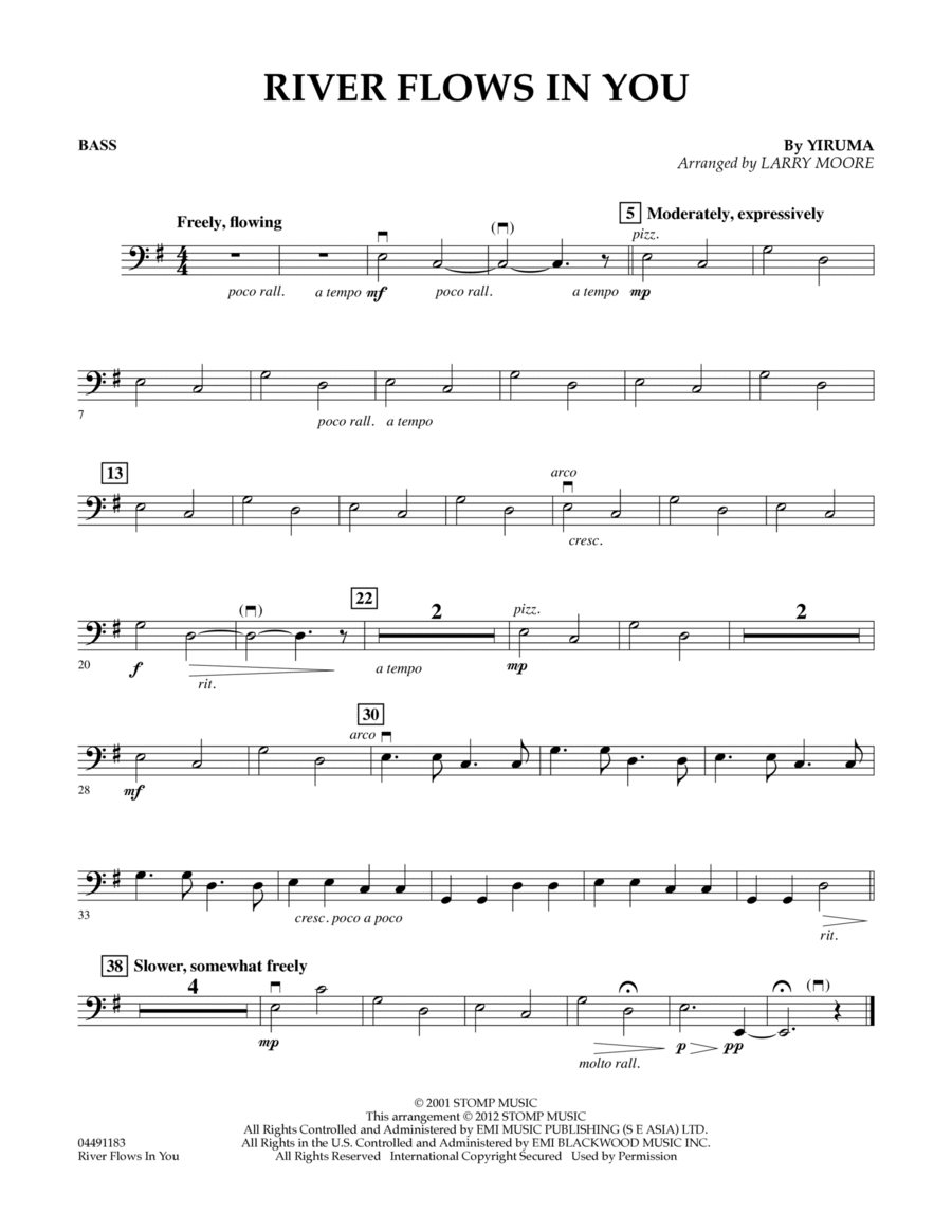 Yiruma River Flows In You Easy Piano Klaviernoten: Download River Flows In You - Bass Sheet Music By Yiruma - Sheet ,Chart