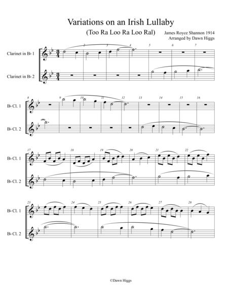 Variations on an Irish Lullaby