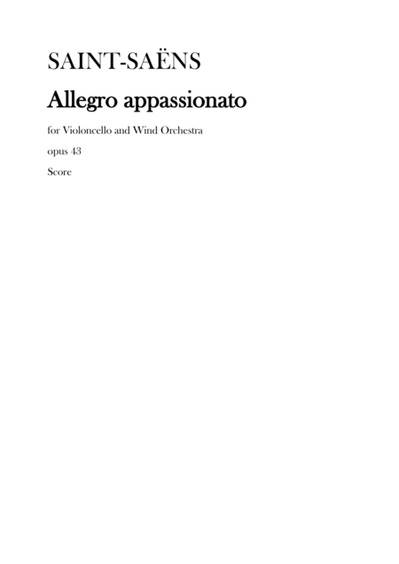 Saint-Saens Allegro Appassionato Op.43