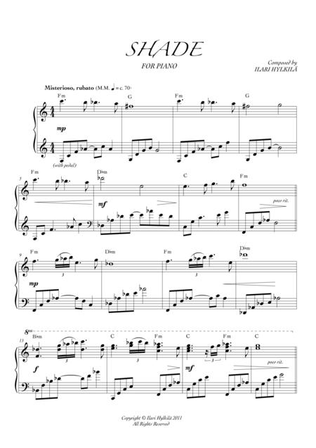 SHADE for piano