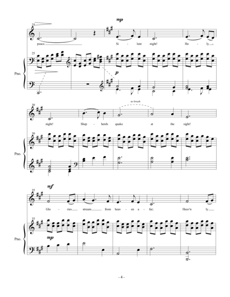 Silent Night (Vocal Solo - High)