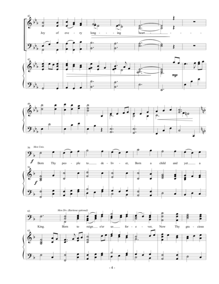 Come, Thou Long Expected Jesus (SATB)