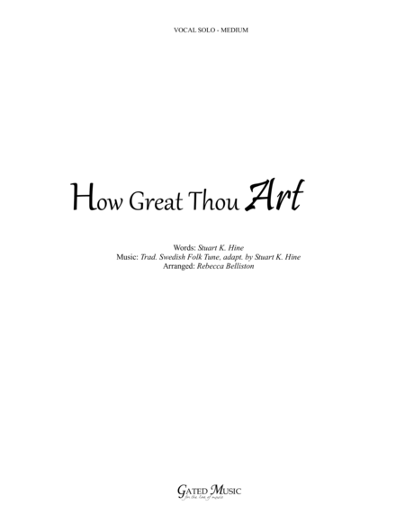 How Great Thou Art / Then Sings My Soul (Vocal Solo - Medium)