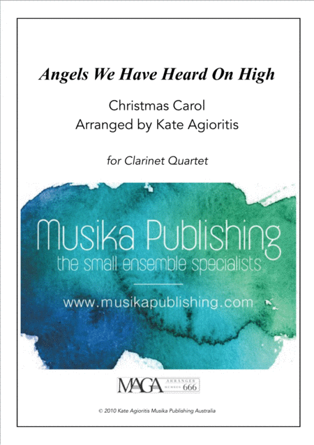 Angels We Have Heard on High - Jazz Carol for Clarinet Quartet