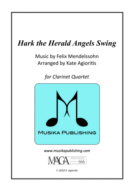 Hark the Herald Angels Swing - Jazz Carol for Clarinet Quartet