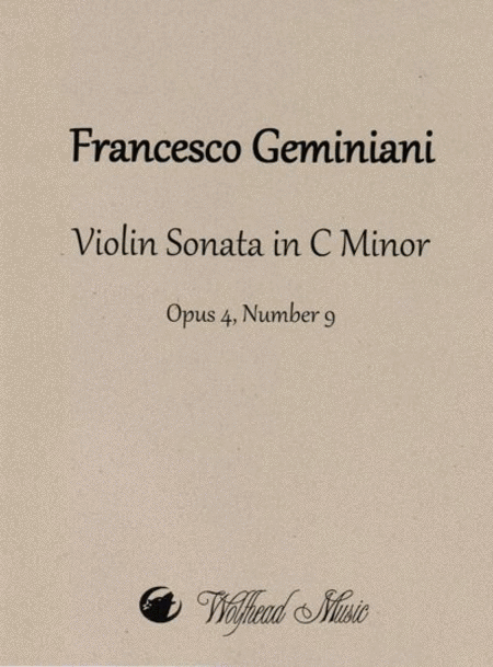 Violin Sonata in C Minor, op. 4, no. 9